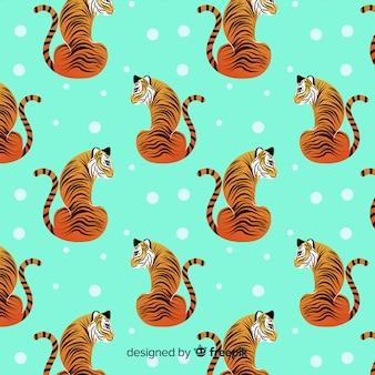 Sitting tiger pattern