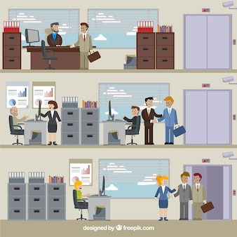 Situations of business Premium Vector