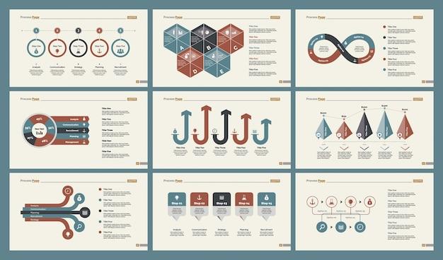 Set di modelli di diapositive di contabilità