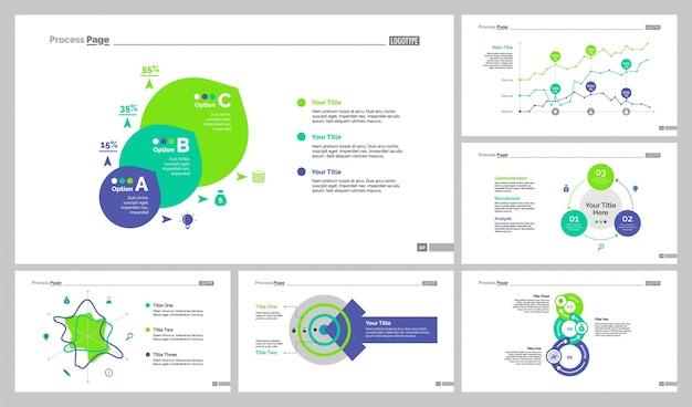 Six analysis slide templates set