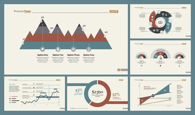 Набор шаблонов слайдов для google analytics