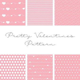 Six beautiful patterns for valentine's day