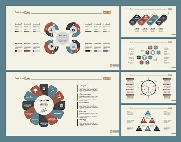 Set di modelli di diapositive di business