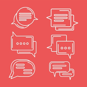 Six chat icons