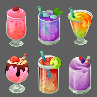 Six cold beverage drink set