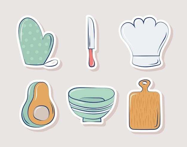 Six cooking items