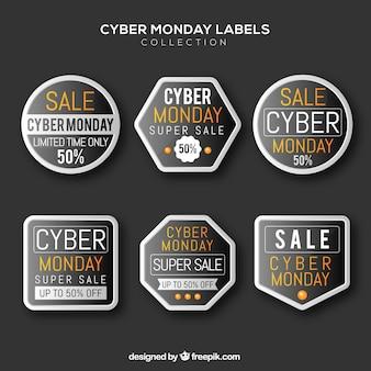 Six dark cyber monday labels