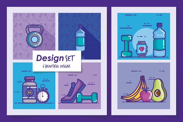 Six designs of lifestyle healthy