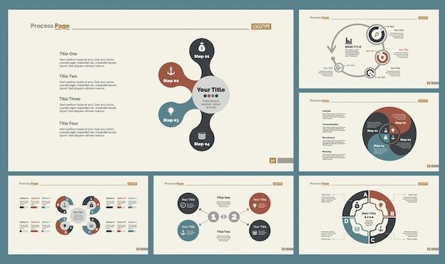 Set di modelli di diapositive di economia
