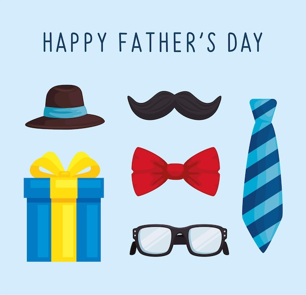 Six fathers day symbols