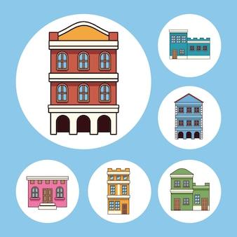 6つのフェスタジュニーナの建物