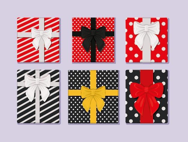 Шесть подарочных пакетов
