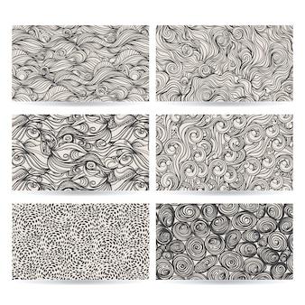 6つの灰色のパターン