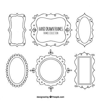 Six hand drawn frames