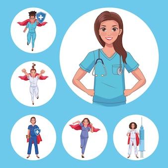Six heros doctors