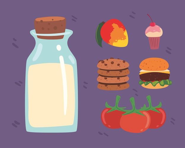 Шесть иконок домашней еды