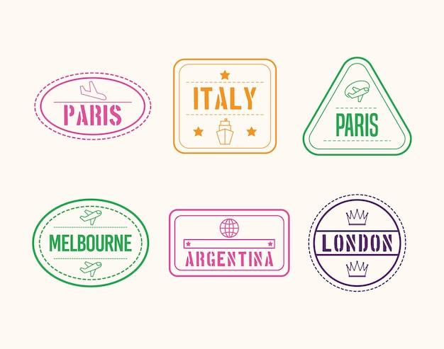 Шесть международных марок