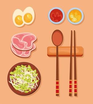 6 한국 음식 아이콘