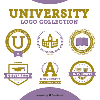 Six logos for the university
