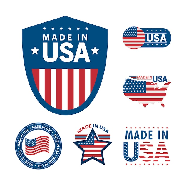 Six made in usa set icons