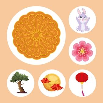 Шесть иконок фестиваля луны