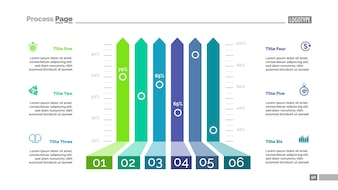 Six options bar chart template for presentation.