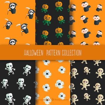 Six patterns for halloween
