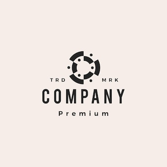 Six people family team group of 6 human hipster vintage logo vector icon illustration