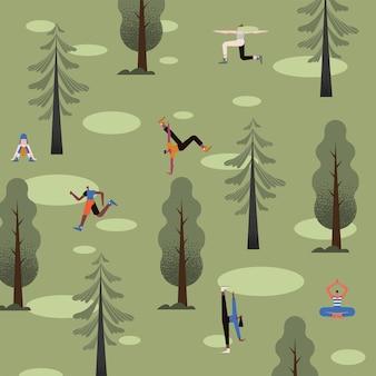 Сцена тренировок для шести человек
