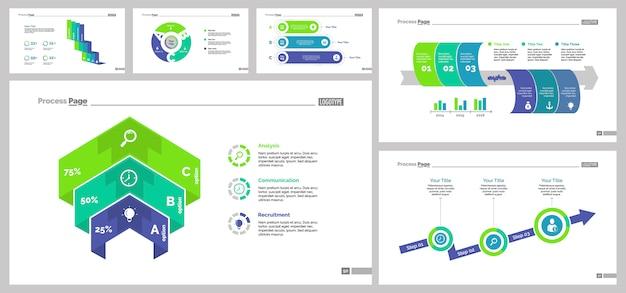 Set di modelli di diapositive di pianificazione