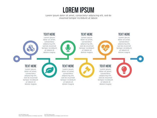 Six point timeline infographic and presentation template