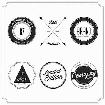 Six retro badges