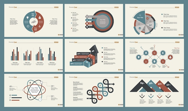 Six slide templates set