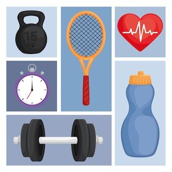 Шесть спортивных иконок