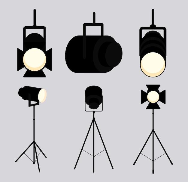 6つのスポットライトリフレクターアイテム