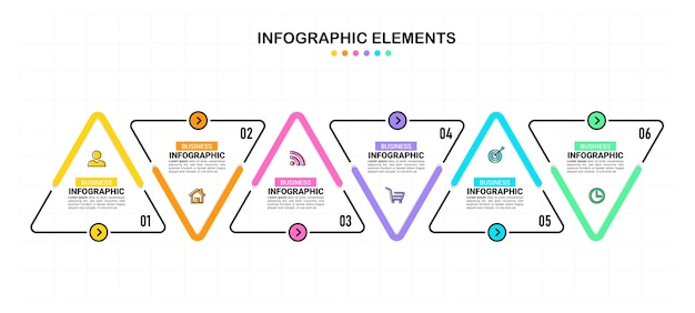 Six steps business infographics