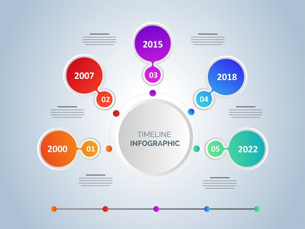 Six steps timeline infographic template design with four differe