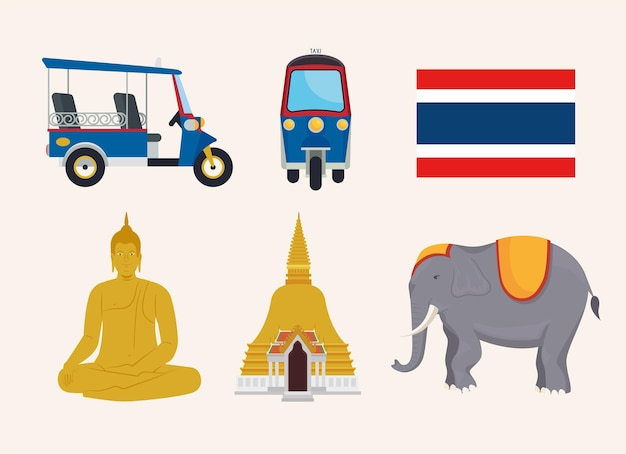 Six thailand icons