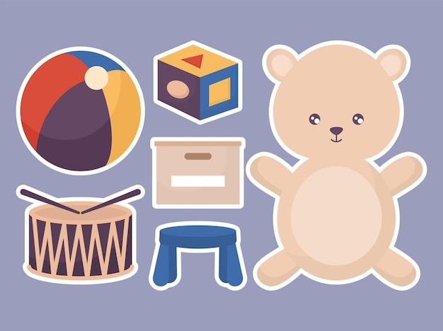 여섯 장난감 디자인