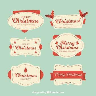 6 빈티지 크리스마스 배지
