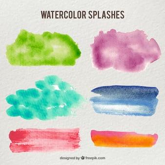 Шесть цвет воды spash пакет
