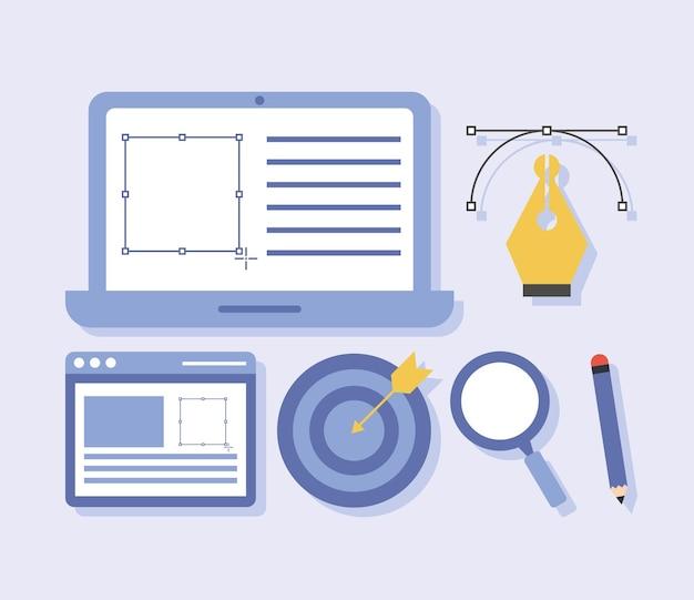 Six web design items