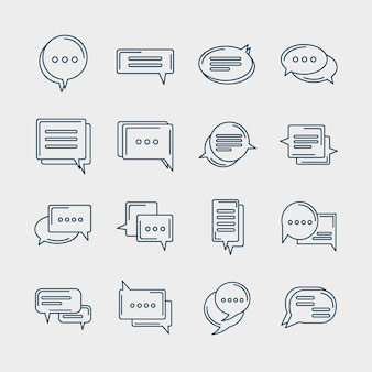 Sixteen chat icons