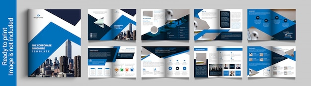 Sixteen pages business brochure design