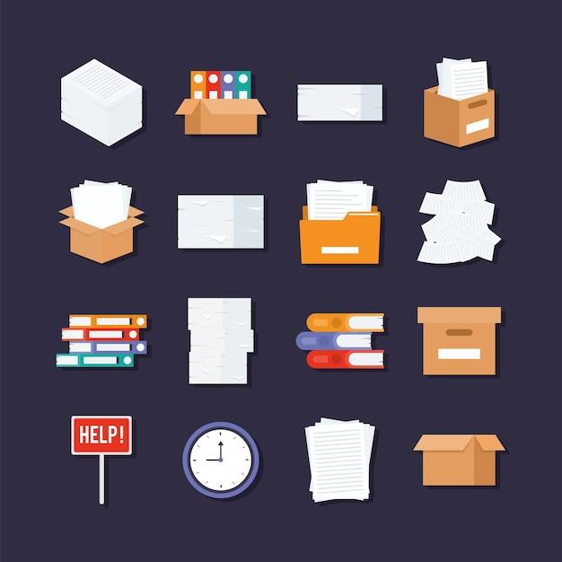 Sixteen paperwork items