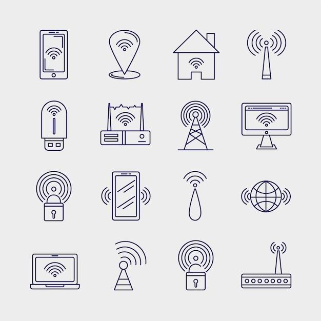 16個の無線信号アイコン