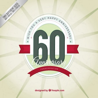 Sixty anniversary vintage background