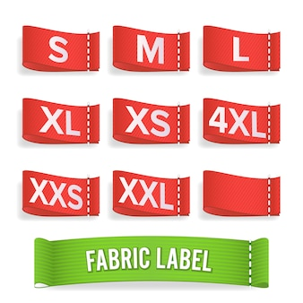 Size label fabric.