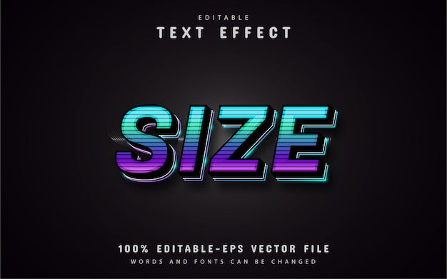 Size text effect