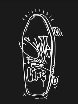 人生のためのスケートボード。
